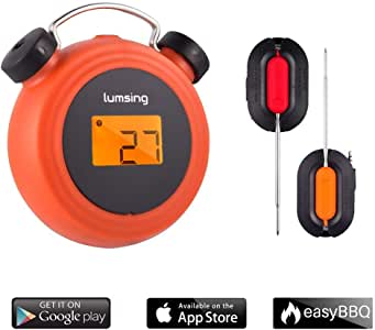 Amazon.com: Lumsing BBQ Grill Thermometer Wireless ...