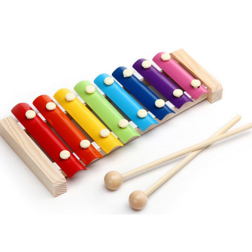 iTemer Pädagogisches Spielzeug 8 klingt Hand klopfen Klavier 1 Stück Farbe zufällig mehrfarbig
