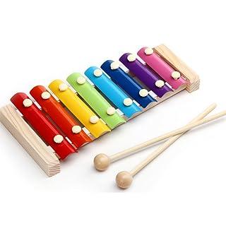 Spaufu Strumenti Musicali Giocattolo Xilofono per Bambini Strumenti a percussione Giocattoli Strumenti a Fiato Ottoni