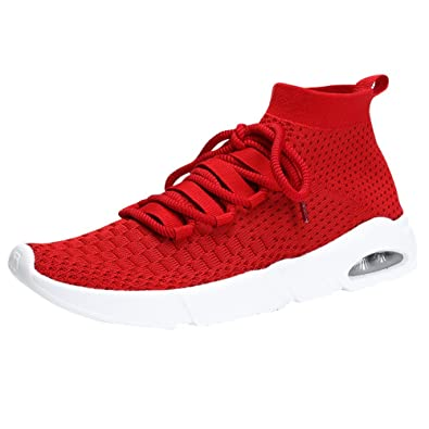 51667c8484bcf TSIODFO Men's Sneakers Breathable Comfortable Youth Big Boys Sport Trail  Running Shoes
