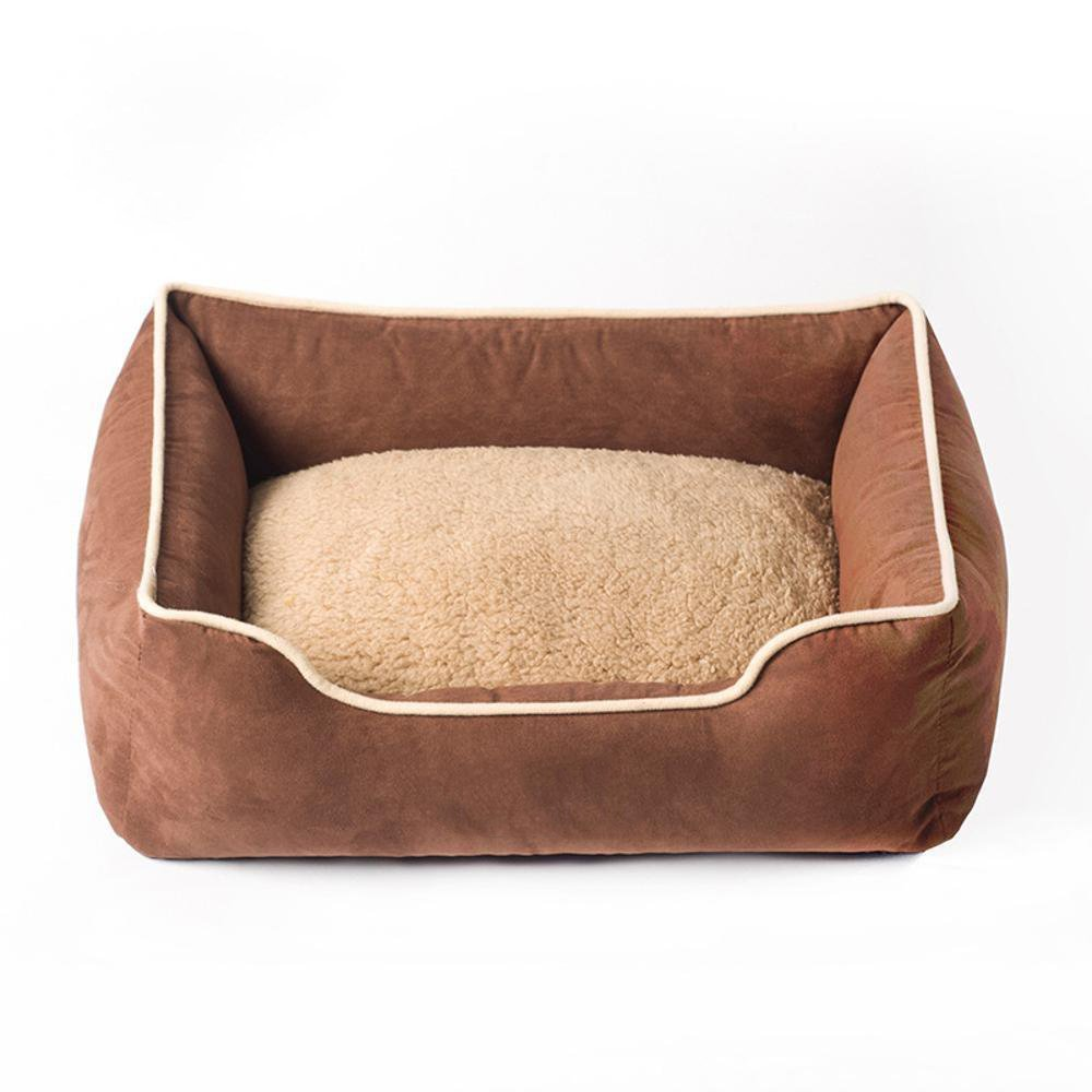 D 9070cm D 9070cm YunYilian Pet Bolster Dog Bed Comfort Suede Square Cat Litter Kennel (color   D, Size   90  70cm)