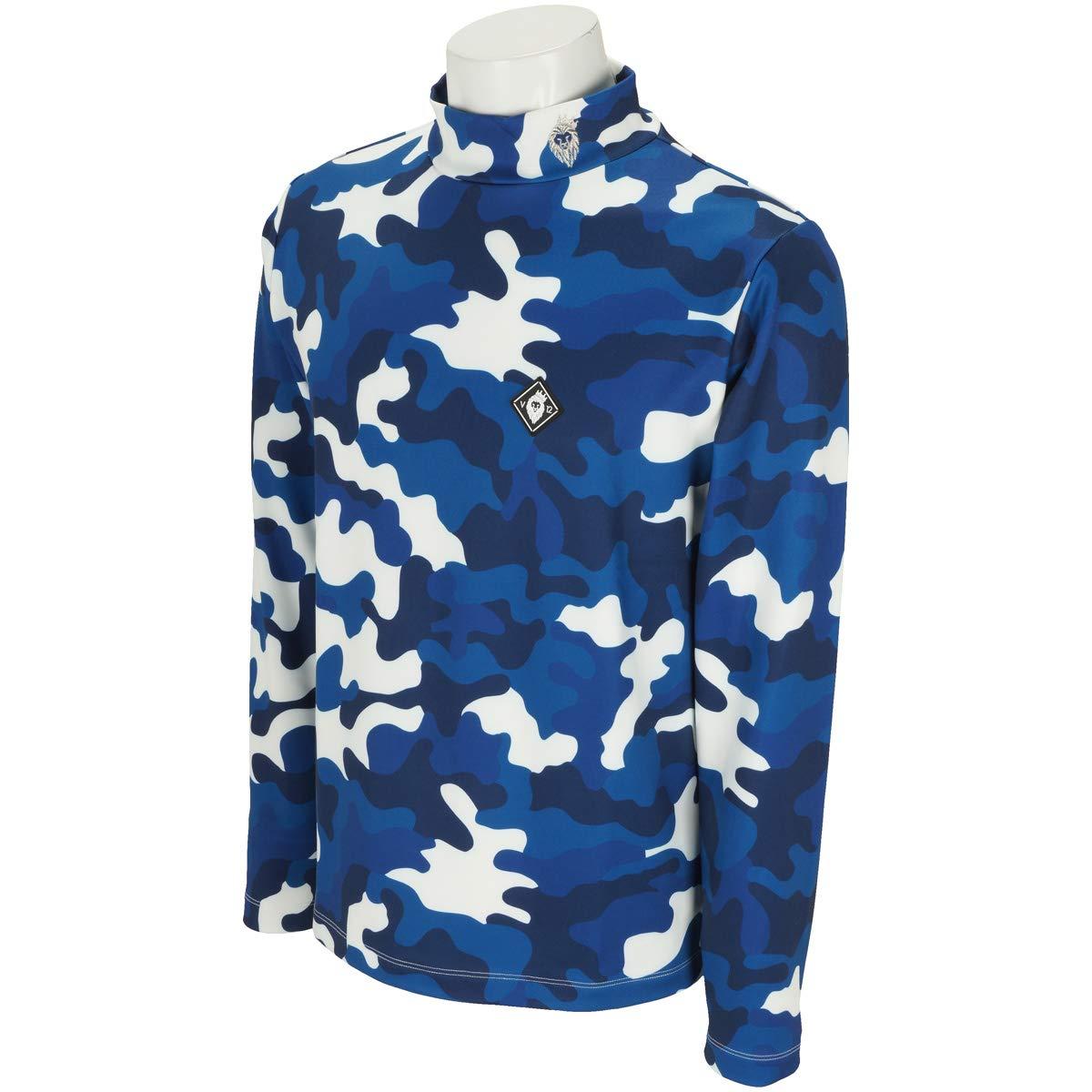 V12 ゴルフ ヴィトゥエルブ メンズ ハイネックシャツ 長袖 モックネックシャツ CAMO MOCK 裏微起毛   B07HMMKRN4