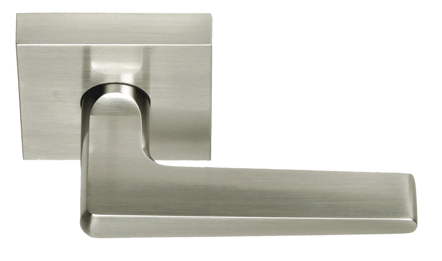 Better Home Products Tiburon Reversible Passage Lever, Satin Nickel