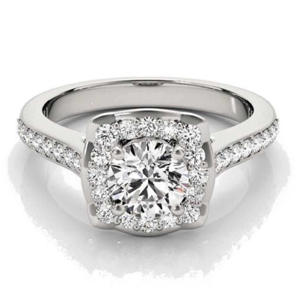 Lovely 0.97 ct J-K Moissanite Engagement wedding Ring 925 Sterling Silver