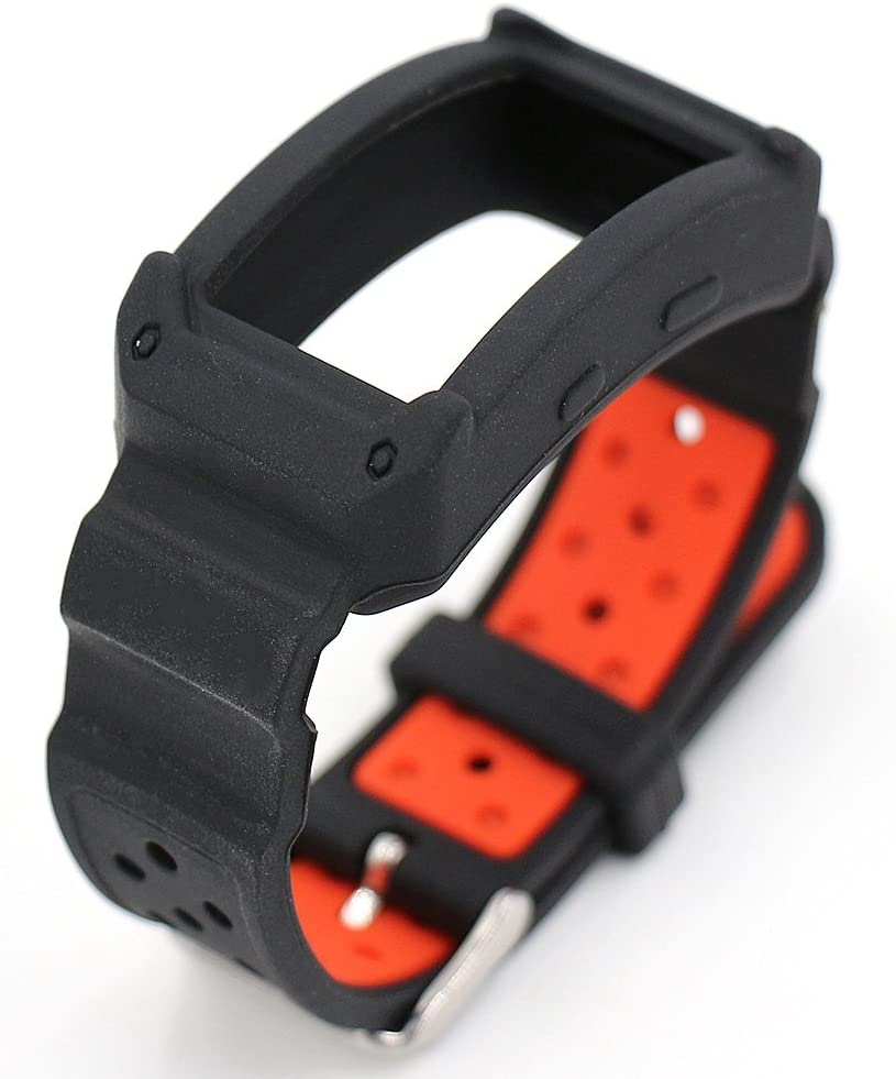 Gear Fit 2 Band, Woodln Silicone Wristband Bracelet Replacement Strap Band for Samsung Gear Fit 2 Fit2 SM-R360 Smartwatch (Black Red)