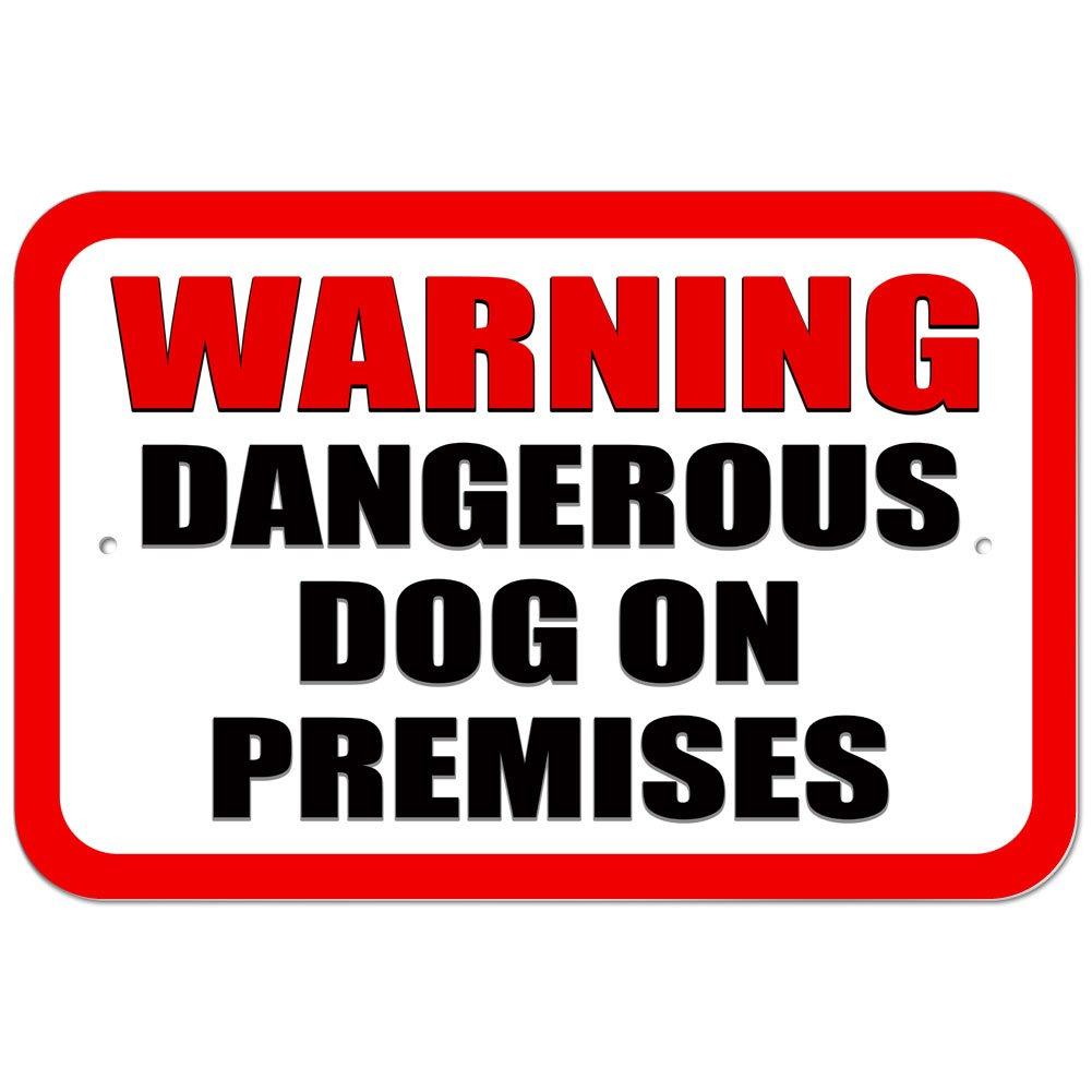 Plástico Señal advertencia perro peligroso en locales ...