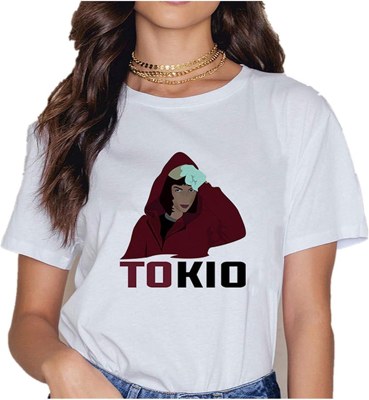 VERROL Camiseta La casa de Papel Mujer Camiseta Casa de Papel Ni/ña Camisetas de Manga Corta Cuello Redondo Impresi/ón Camisa de Verano T-Shirt Tops