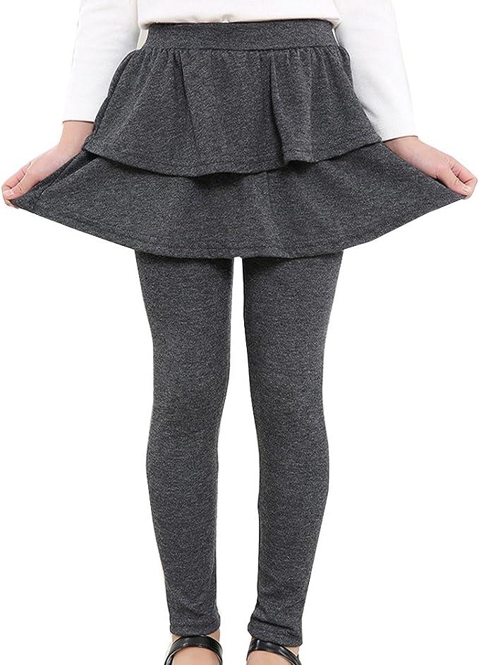 Niña Leggins Leggings Pantalones De Lápiz con Falda De Niñas Falda ...