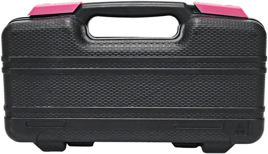 Yuanshikj Precision Tools General Tool Set Homeowners Tool Kit Toolbox 39 Piece Pink Color General Household Hand Tools Kit with Plastic Toolbox Storage Case