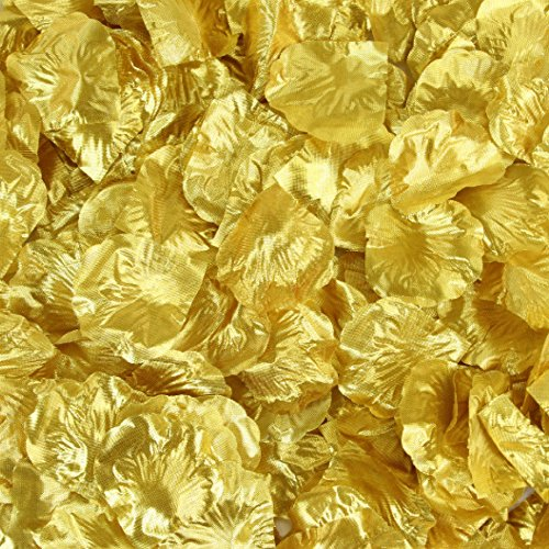 Koyal Wholesale 200-Pack Silk Rose Petals, Gold David Rose Lighting