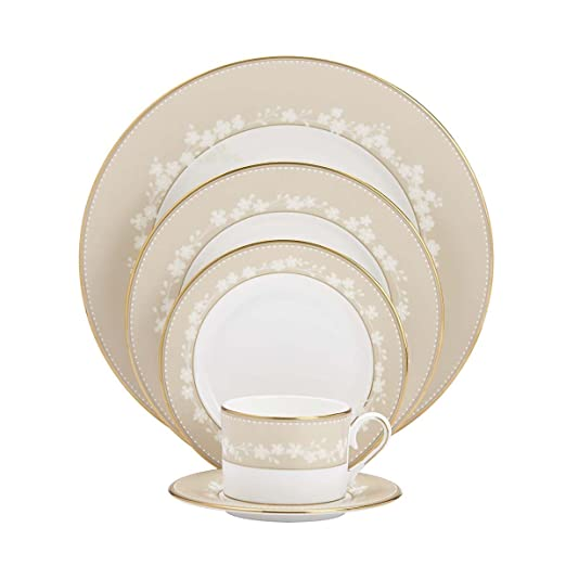 Christmas Tablescape Decor - Lenox Bellina Gold fine china 5-piece place setting