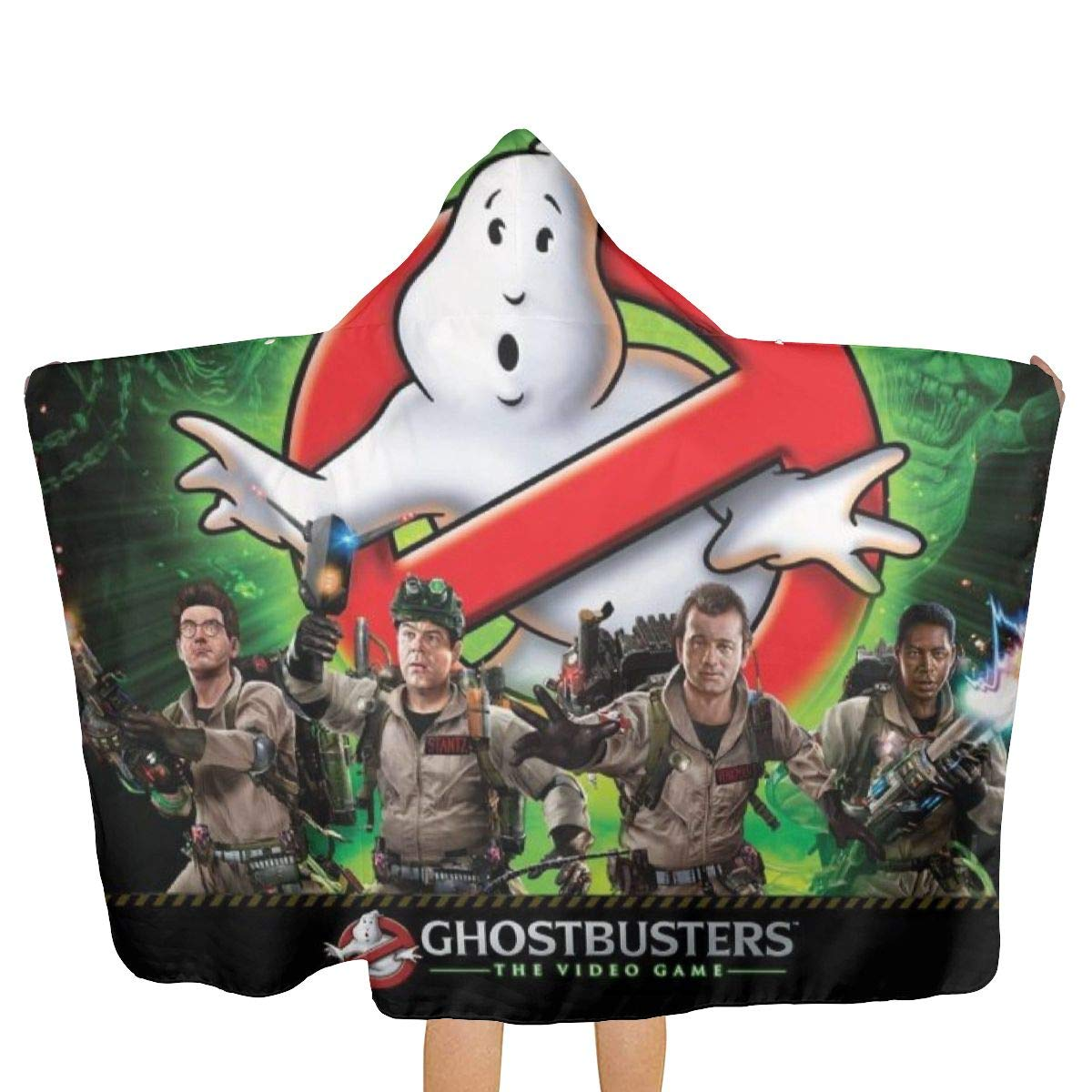 Ghostbusters Hooded Bath/Pool/Beach Towel Soft Hooded Throw Blanket Wearable Hooded Blanket for Adult and Kids by BurnNow (Image #2)