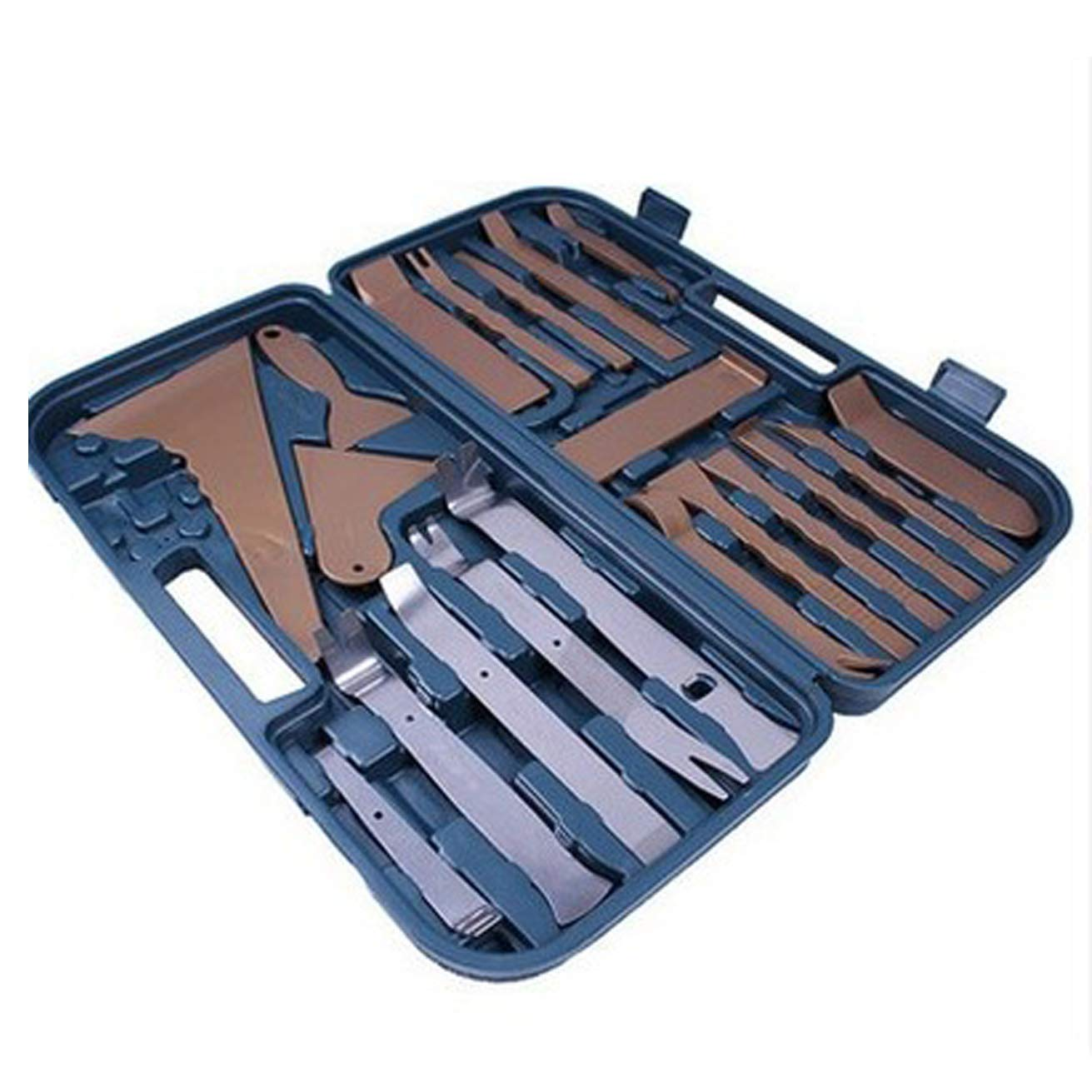 WEPECULIOR 36 Pcs/Set Auto Door Clip Panel Trim Removal Tool Kits for Car Dash Radio Audio/Household Installer Pry Tool Fastener Remover with Case? by WEPECULIOR (Image #3)