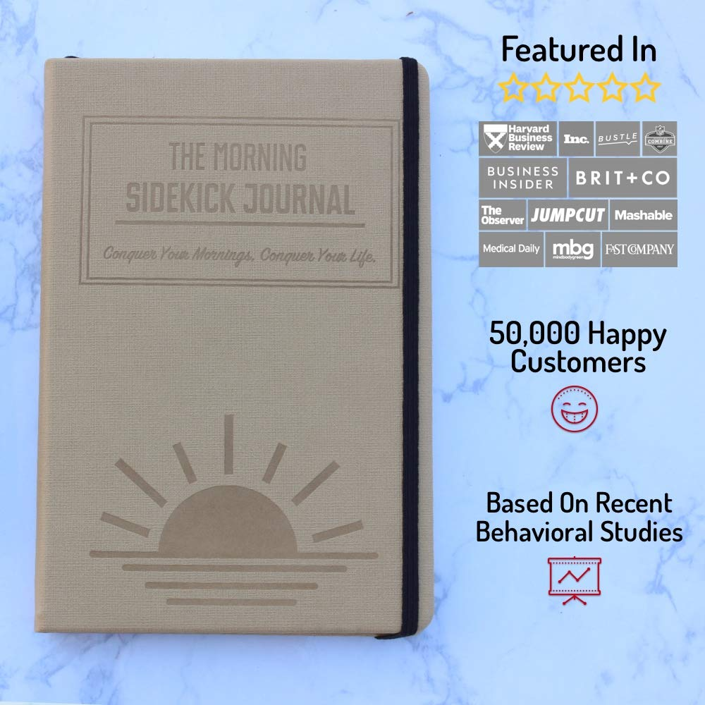 Bundle - Two Beige Morning Sidekick Journals. Morning Habit Tracker! A Science Driven Daily Planner for Building Positive Life Habits by Habit Nest (Image #5)