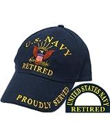 Eagle Emblems Men's U.S. Navy Retired Hat