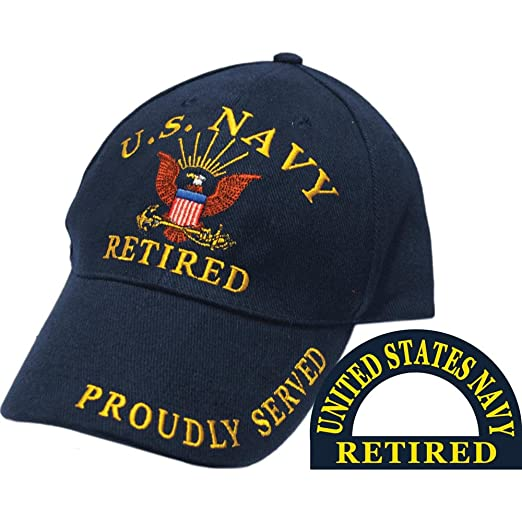 Amazon.com  United States Navy Retired Blue Hat Cap USN  Clothing 783a730574cf