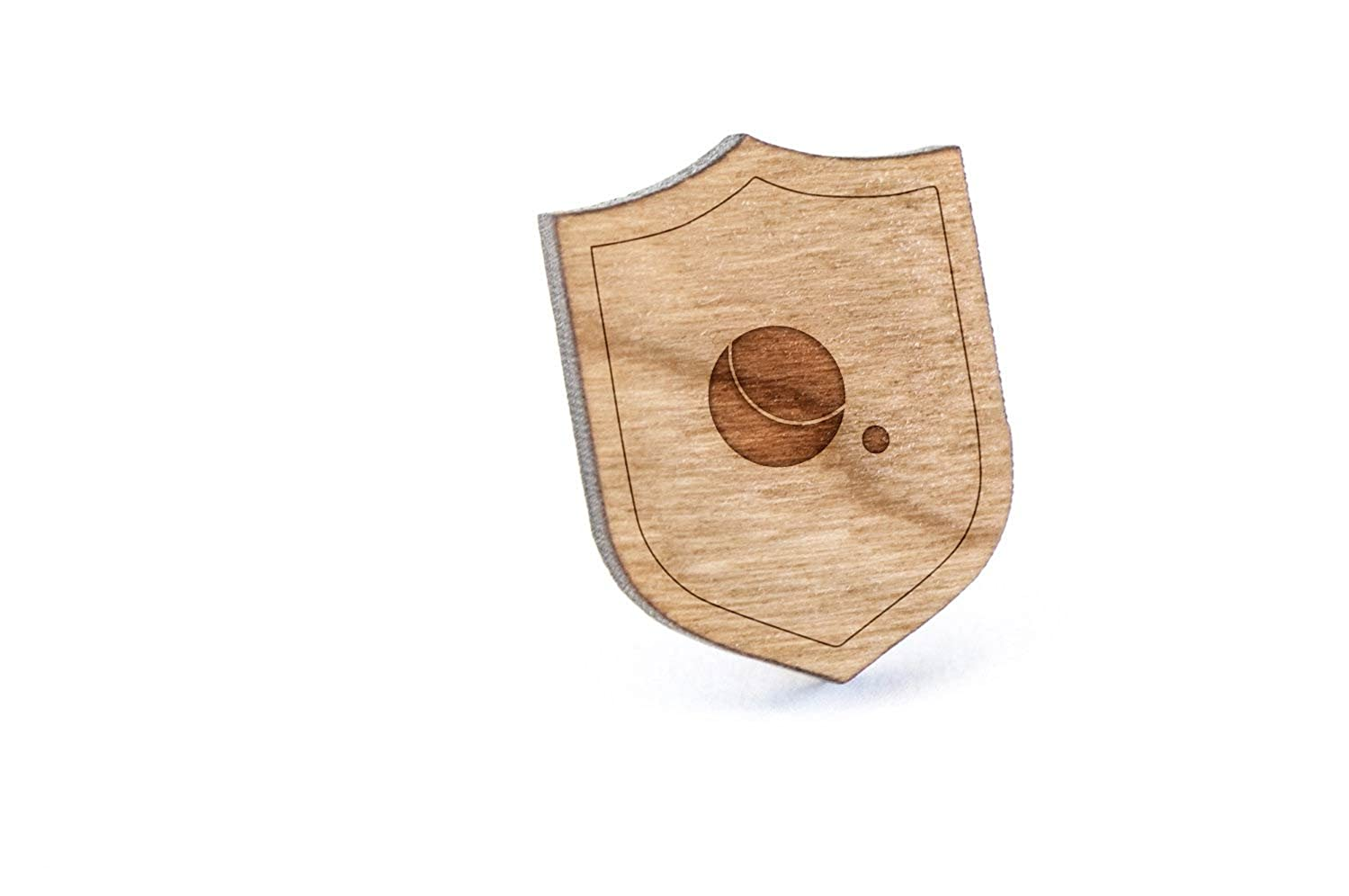 Petanque Lapel Pin, Wooden Pin And Tie Tack   Rustic And Minimalistic Groomsmen Gifts And Wedding Accessories