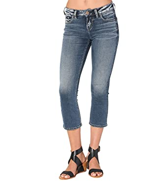 Amazon.com: Silver Jeans Women's Avery Ultra Curvy-Fit High-Rise ...