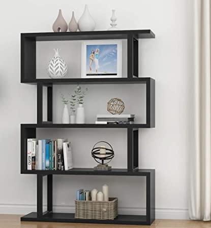 Tribesigns 4 Shelf Bookshelf Modern Bookcase Display Storage Organizer For Living Room Home Office