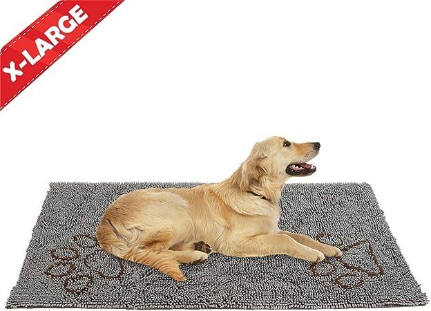 Dirty Dog Doormat 30 Inch By 61 Inch Microfiber Absorbent Pet Door Mat Grey Amazon Ca Pet Supplies