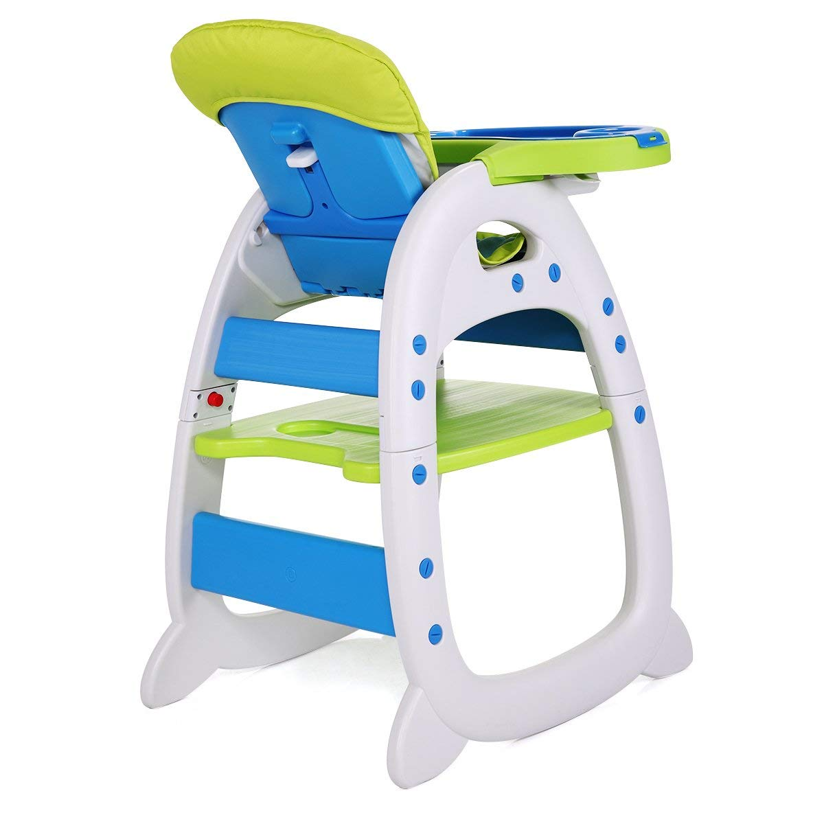 Sandinrayli 3 in 1 Toddler Highchairs Booster Seats Convertible High Chair w//Feeding Tray Blue-Green