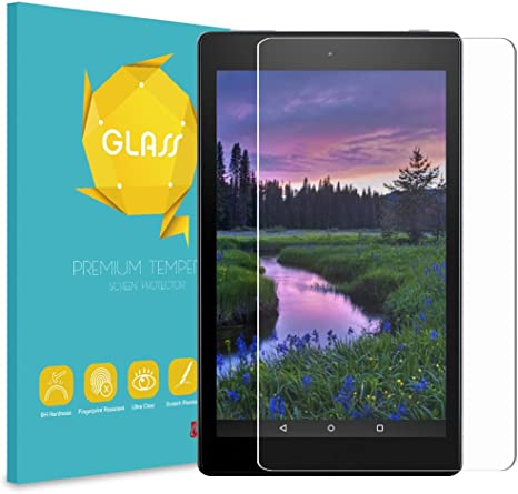 Amazon Fire HD 8 Tablet Tempered Glass Screen Protector 2017 Release , 7th Gen