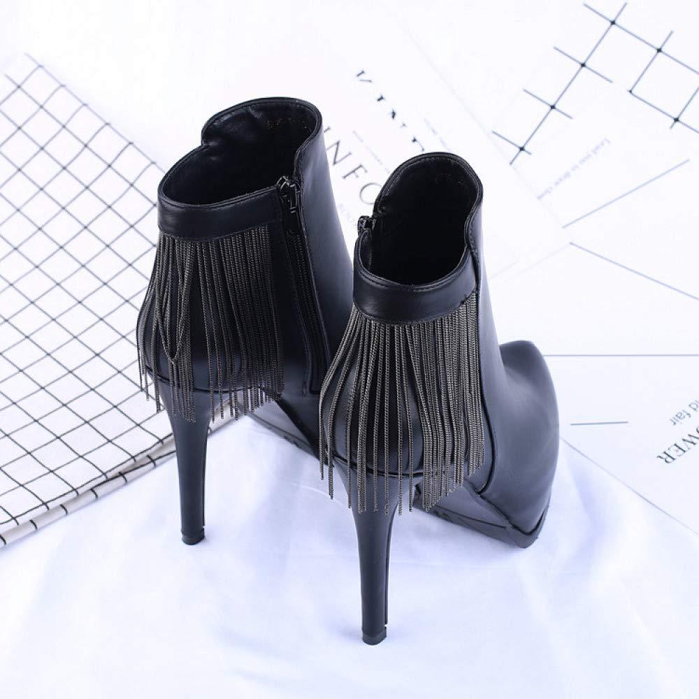 MYXUA Stivaletti Da Donna Con Tacco Tacco Tacco Alto E Scarpe Impermeabili Da Donna 4fd453