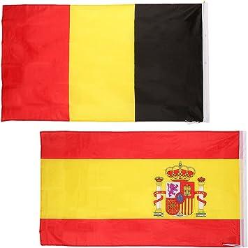 2 Piezas de Banderas del Orgullo Nacionales de España + Bélgica 5 ...