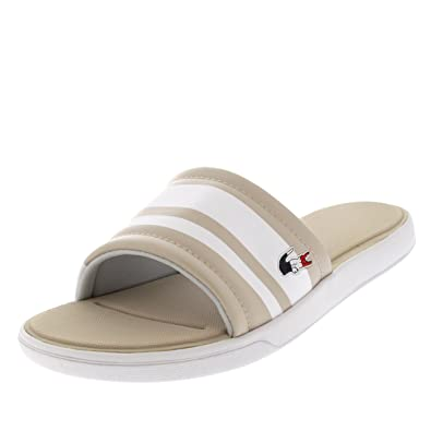 d4ba91b9e107e8 Lacoste Womens L.30 Slide 317 1 Pool Shower Open Toe Bach Summer Sandals -