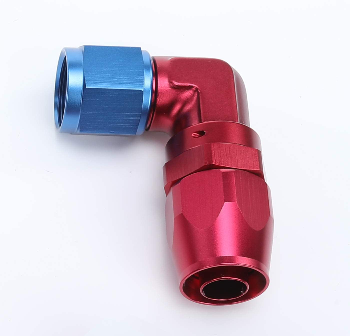 Aluminum Blue 6 AN AN6 Male To Female 90 Degree Elbow Swivel Hose Fitting Adapter