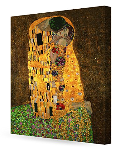 Gustav Klimt Reproductions - DECORARTS The Kiss, Gustav Klimt Art Reproduction. Giclee Canvas Prints Wall Art for Home Decor 30x24 x 1.5