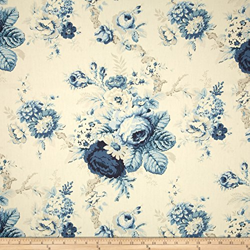 WAVERLY Sanctuary Rose Fabric, Cornflower ()