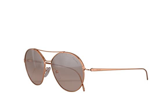 08798fc62948d Amazon.com  Prada PR56US Sunglasses Pink Gold w Brown Mirror Silver ...