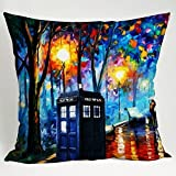 Throw Pillowcase Cover Hot Home Dr Who Tardis Box Painting Art Pillow Case (2030 inches one side)