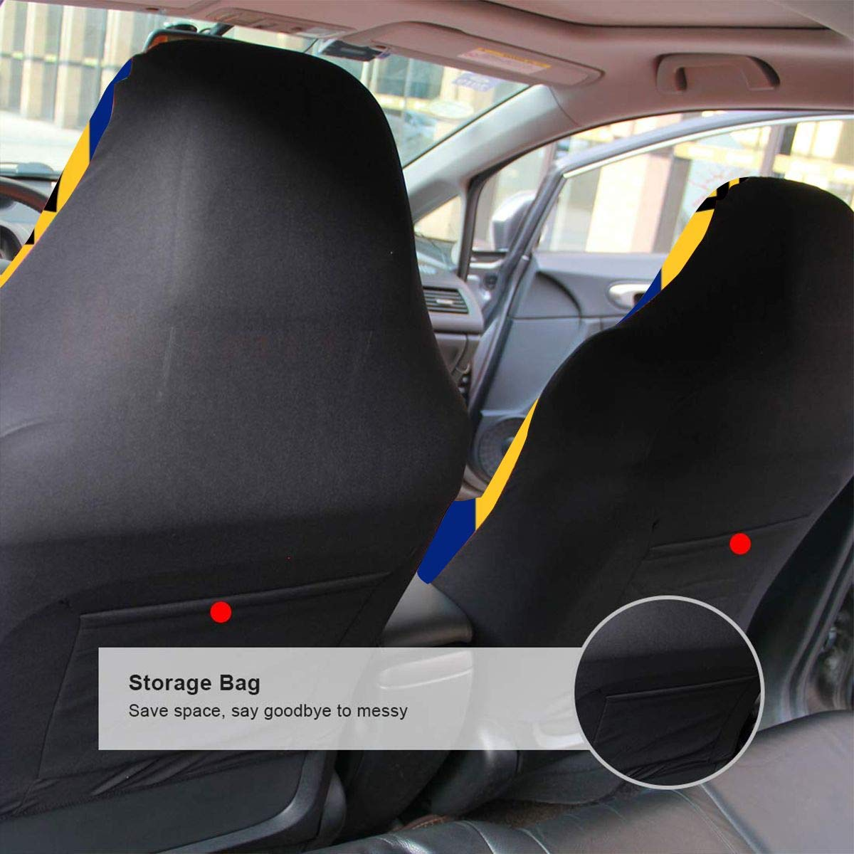 PNNUO Front Car Seat Protector Flag of Barbados Removable Cushion Fit Truck SUV Sedans Bus Tractor Auto Interior All Seasons 1pc//2pc