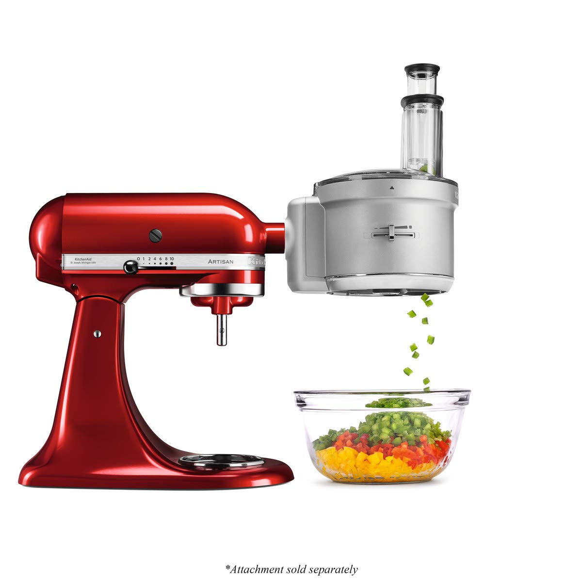 KitchenAid 5KSM2FPA Food Processor Attachment (Optional Accessory for KitchenAid Stand Mixers)