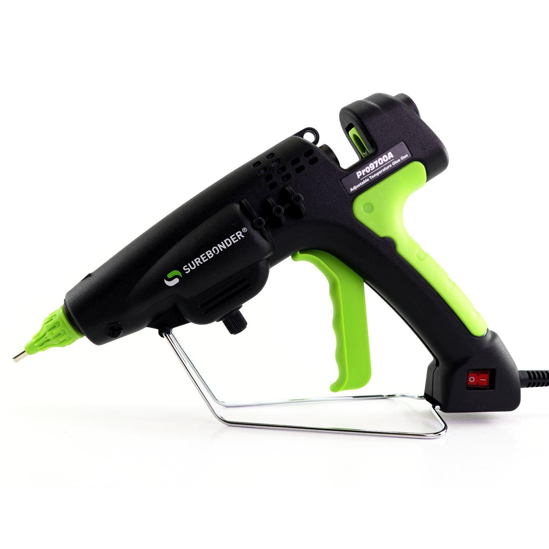 PRO9700A 300 Watt Adjustable Temperature Professional Heavy Duty Hot Glue Gun - Uses full size, 7/16'' sticks