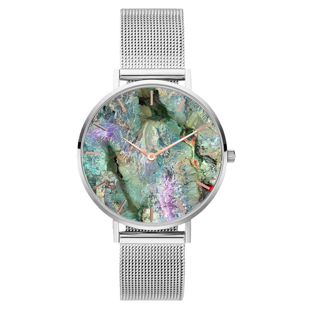 Ladies Watches Sale Coral Shell Stainless Steel Mesh Band Fashion Women Quartz Wrist Watch Gift