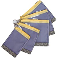 sugarSNAP Diaper Bag Organizer Files   Set of 5 Mesh Inserts   Gray+Yellow
