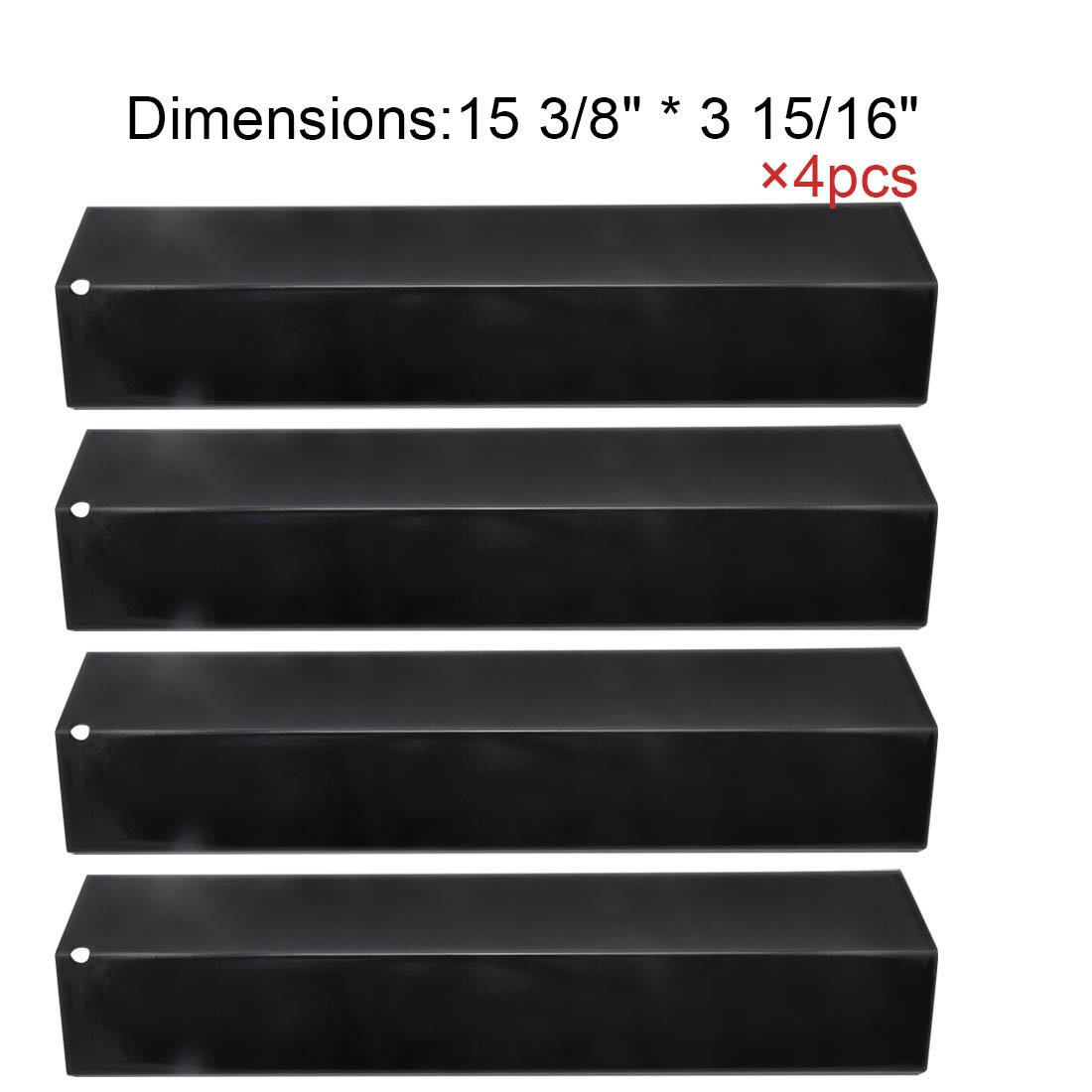 92311(4-pack) Porcelain Steel Heat Plate for Aussie, Brinkmann, Uniflame, Charmglow, Grill King, Lowes Model Grills BBQ Mart PP2311
