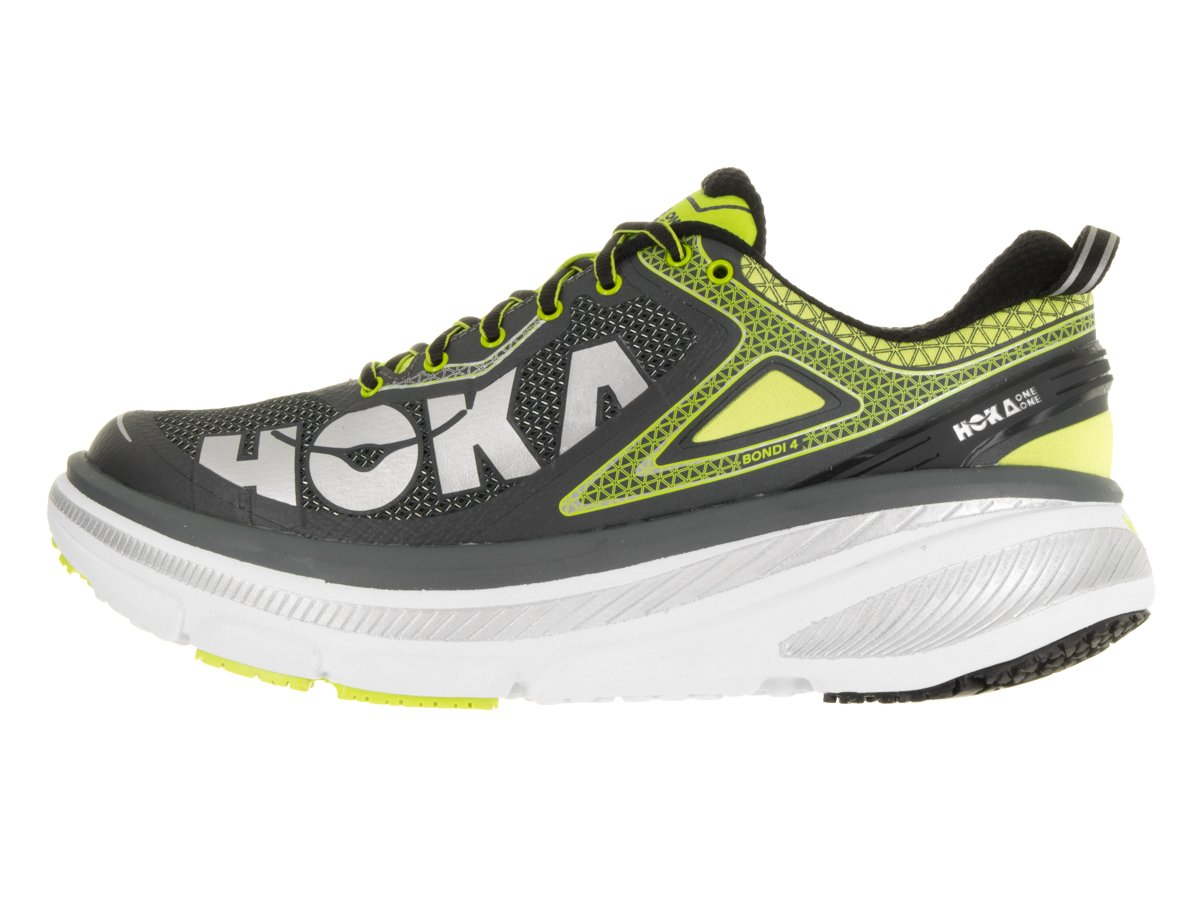 1012619-GAC Hoka One One Men s Bondi 4 Athletic Shoes – Grey Acid – 10.5 – M