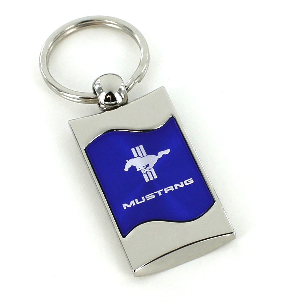 Ford Mustang Logo Tri-Bard Azul Hilos de Metal Pulido ...