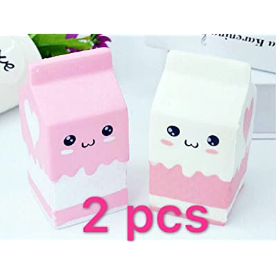 2pc squishies Release Stress Milk Bag Scented Slow Rising Toy Charms Soft Squishy by Originnt