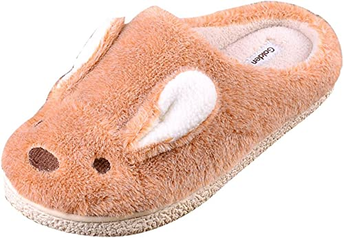 Cattior Womens Fur Lined Cute Comfy Ladies Slippers Bunny Slippers