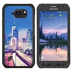 Stuss Case / Funda Carcasa protectora - Modernos Luces de la ciudad de tráfico - Samsung Galaxy S6Active Active G890A