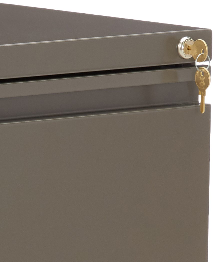 Medium Tone Lorell LLR49538 Mobile Steel Pedestal File