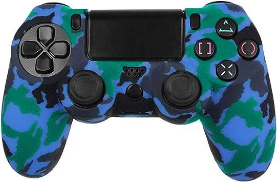 OcioDual Funda de Silicona Carcasa para Mando Sony PS4 PlayStation 4 Slim Pro Dualshock 4 Camuflaje Azul: Amazon.es: Videojuegos