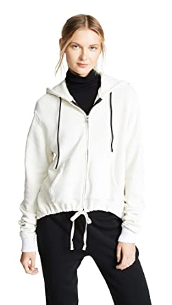 6732fcc9f Amazon.com: Cotton Citizen Women's Brooklyn Zip Hoodie, Cream, X ...