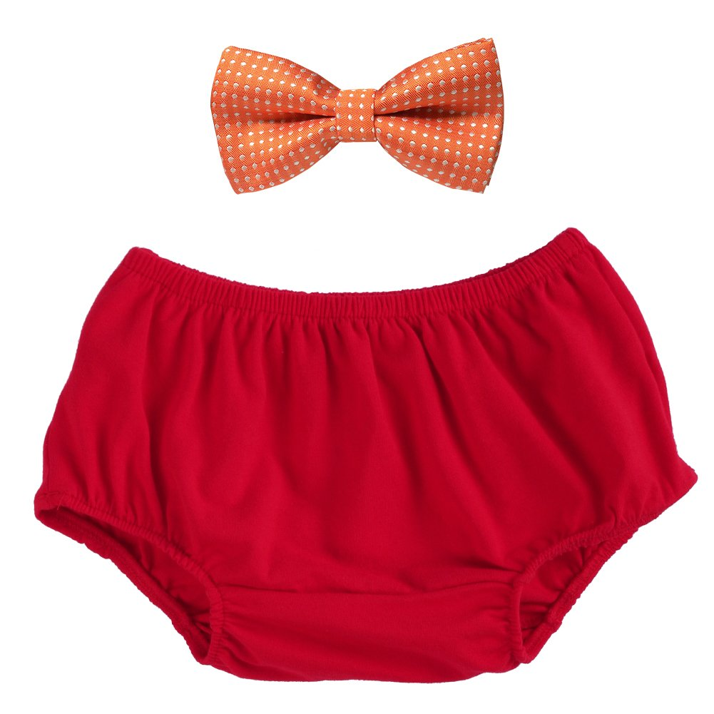 Child Baby Boy 1st Birthday Outfits Tuxedo Bow Tie Cake Smash Short Diaper Bloomers set