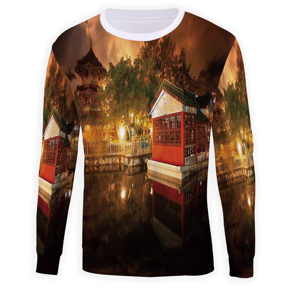 Mens Anchor Decor Sweatshirt Pullover